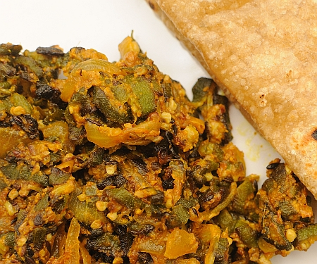 Fried Okra in Yoghurt (Bhindi Dahi)