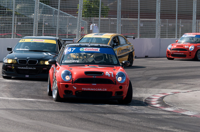 Although Honda Civics dominated the Touring Car entry roster, these two MINI Cooper's took podium on both races