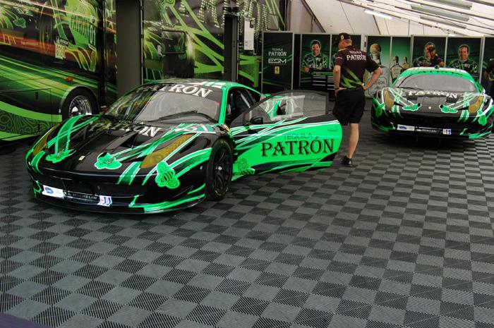 Title sponsor Tequila Patrón's ALMS cars