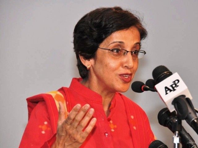 Tehmina Janjua while addressing a news conference