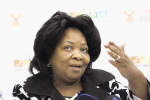 Public Works Minister Gwen Mahlangu Nkabinde