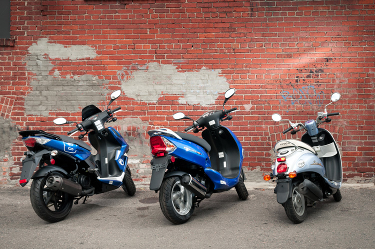 From Kymco: (in order) the Super 8, Vitality, and Sento