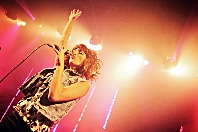 Dragonette lead singer Martina Sorbara rocks out on stage