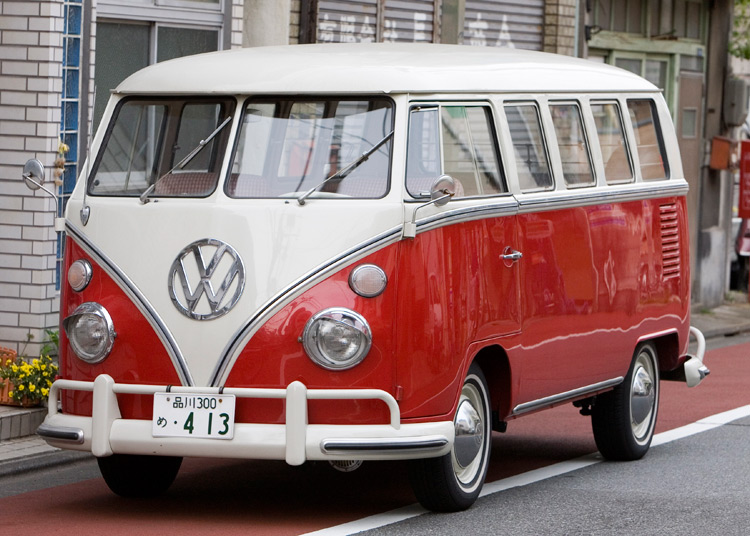 The original VW T1, better known as the camper van