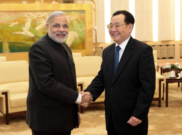Chief Minister Narendra Modi on a visit to China