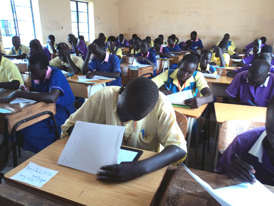 A section of pupils sitting for PLE Exams at Torit Day Secondary school centre in Torit [©Gurtong]