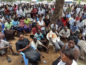 Foreigners residing in the Eastern Equatoria State capital Torit at a past meeting. [©Gurtong]