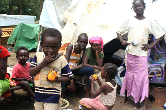 South Sudanese IDPs in Juba Port after arrival from Khartoum early this month [©Gurtong]