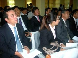 Visiting Chinese delegation at a meeting in Juba. [©Gurtong]