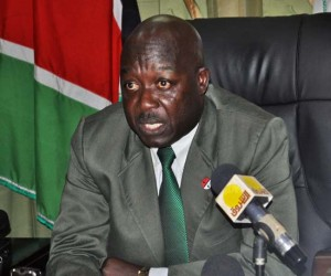 The Western Bahr el Ghazal State acting State Governor and Minister for Legal Affairs John Peter Miskin. [©Gurtong]