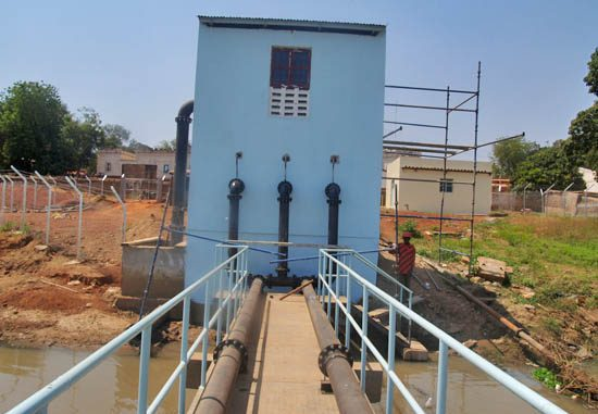 The water treatment works on Jur River in Wau. [©Gurtong]