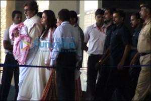 Amitabh & Aishwarya with Beti B