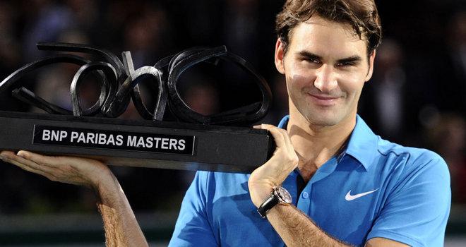 Roger Federer bags the Paris Masters Tournament