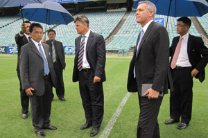 AFC Asian Cup Organising Committee Chairman His Royal Highness Prince Abdullah Ibni Sultan Ahmad Shah at the Sydney FC Stadium. (www.the-afc.com)