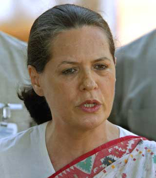 Congress President and UPA chairperson Sonia Gandhi