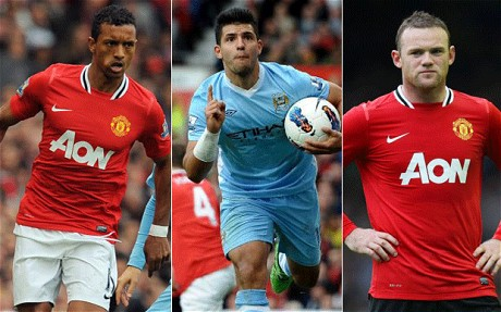 Nani, Auguero & Rooney are players included in 23 nominations