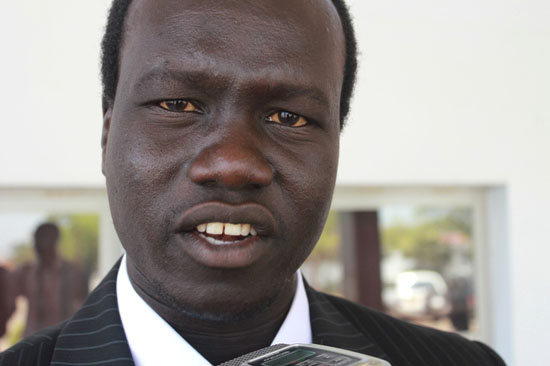 Mr. Akol Paul Kordit speaking to Gurtong at the National Assembly yesterday [©Gurtong]