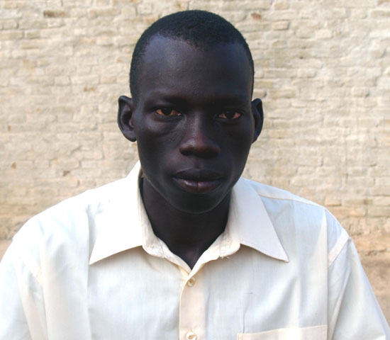Mr. Andrea Kwajo Maker shortly after speaking to Gurtong correspondent in Wau [©Gurtong]