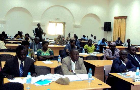 The Central Equatoria State legislatures during deliberation in the House in Juba [©Gurtong]