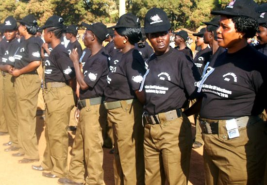 The Fire brigade team listening to speeches during the celebrations in Wau [©Gurtong]