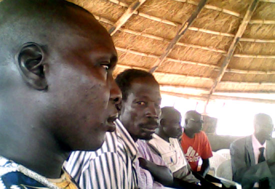 Mapel youths who attended the Association meeting in Mapel town [©Gurtong]