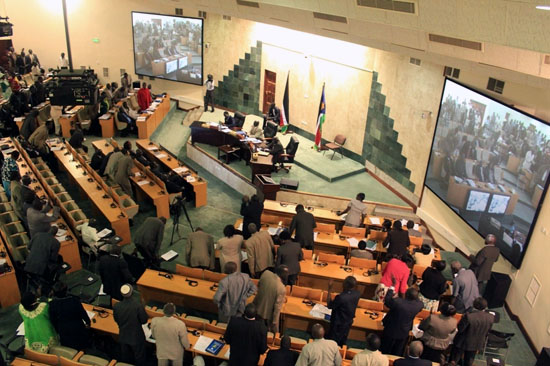 National Assembly members deliberating during the session [©Gurtong]