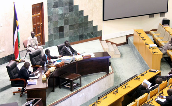 Parliamentarians debating on the capital relocation motion [©Gurtong]