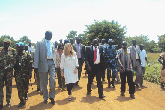 Miss Hilde F. Johnson together with Lakes State officials in a previous event [©Gurtong]