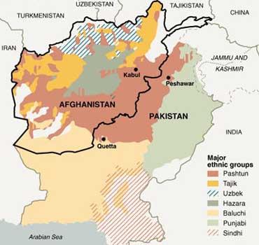 Pak-Afghan Border Line