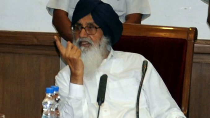 Prakash Singh badal CM Punjab