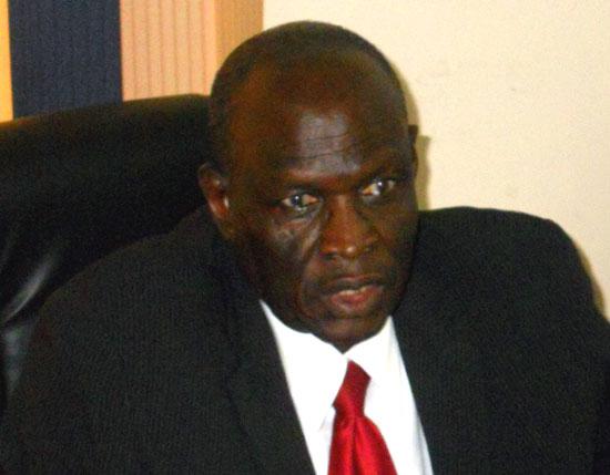 Bank of South Sudan Governor Mr. Kornelio Koriom speaking to Gurtong [©Gurtong]