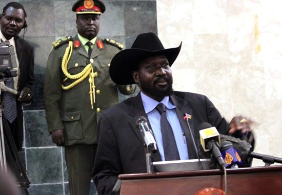 President Salva Kiir Mayardit delivering his speech to the National Assembly in Juba [©Gurtong]