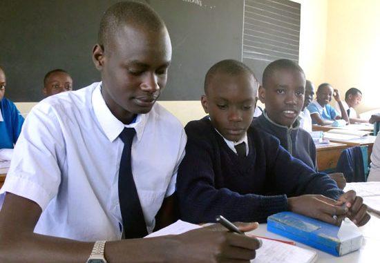 (L-R) Kuol Tito Yak with other pupils at Uthiru Genesis School in Kenya [©Gurtong]