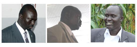 (L-R) Commissioners David Marial Gumker, Isaac Mayek Noah and Matur Majok Magol respectively [©Gurtong]