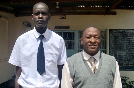 Tito Yak and his head-teacher Mr. Mr. James Gichoya