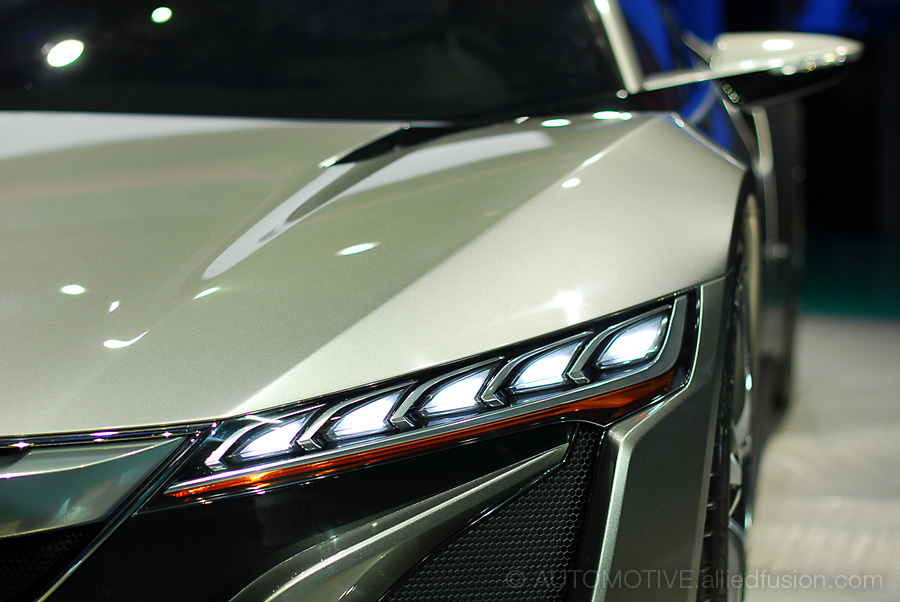 A sleek angle. The Acura NSX Concept is made up of sharp details.