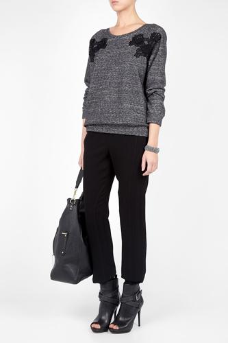 Vanessa Bruno Grey Appliqué Sweatshirt, $202.95, available at My Wardrobe.