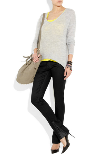 Lot78 Ankle-Zip Jeans, $315, available at Net-a-Porter