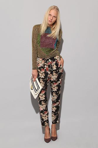 Pixie Market Black Floral Pants, $64, available at Pixie Market.