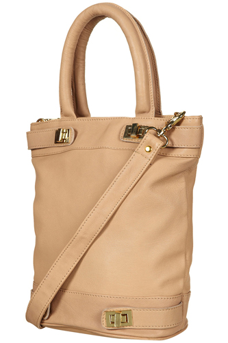 Topshop Twist Lock Leather Bucket Bag, $110, available at Topshop.