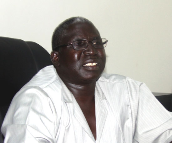 Mr. Diing Akol Diing, the Jonglei State Local Government Minister speaking to Gurtong [©Gurtong]