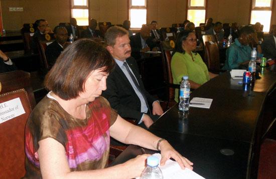 Various diplomats listen to the president Salva Kiir's speech in Juba [©Gurtong]