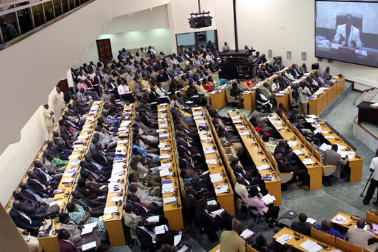 South Sudan National Assembly members during a previous session [©Gurtong]