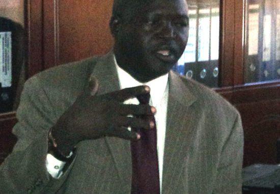EES's Health caretaker Minister, Mr. Sam Felix Makuja announcing the disease outbreak to the media [©Gurtong]