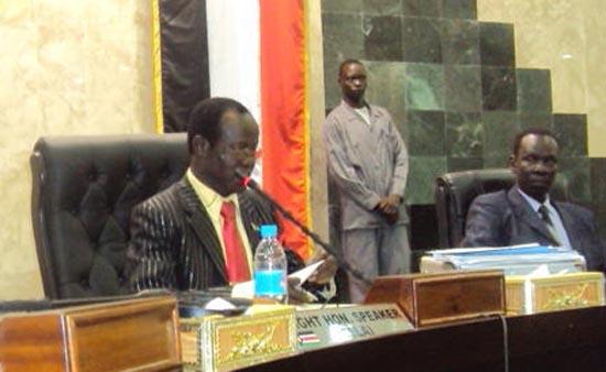 The Speaker of the National Legislative Assembly, James Wani Igga