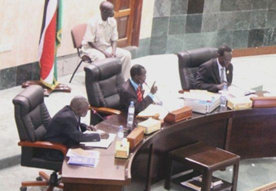 National Assembly Speaker Hon. Wani Igga (centre) chairing the session over unfair mistreatment of journalist