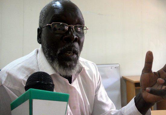 Kenyi Spencer speaking to Gurtong correspondent in Juba [©Gurtong]