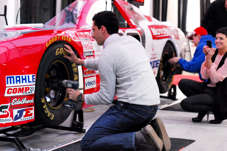 The Canadian Tire Pit Stop challenge gives show goers an opportunity to do a high-speed tire change on a stock car pit crew style!