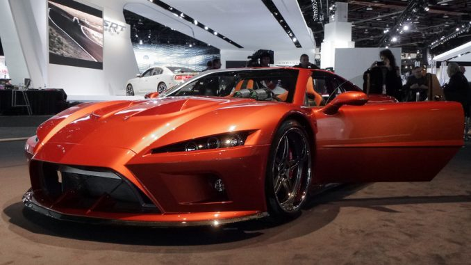 Falcon Motorsports showed off the first production model of its 620 HP F7 in Detroit at the North American International Auto Show in early January (Aman Dhanoa)
