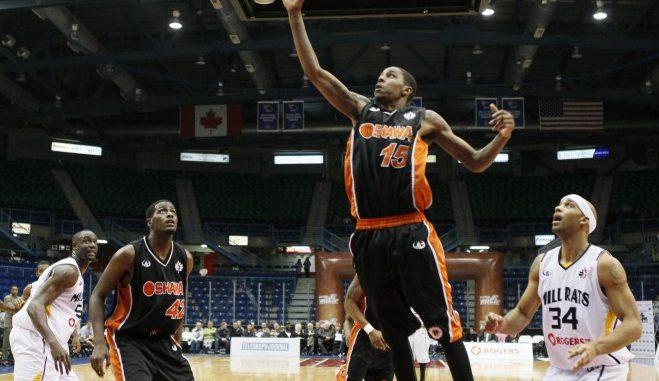 Brandon Robinson scoring the basket